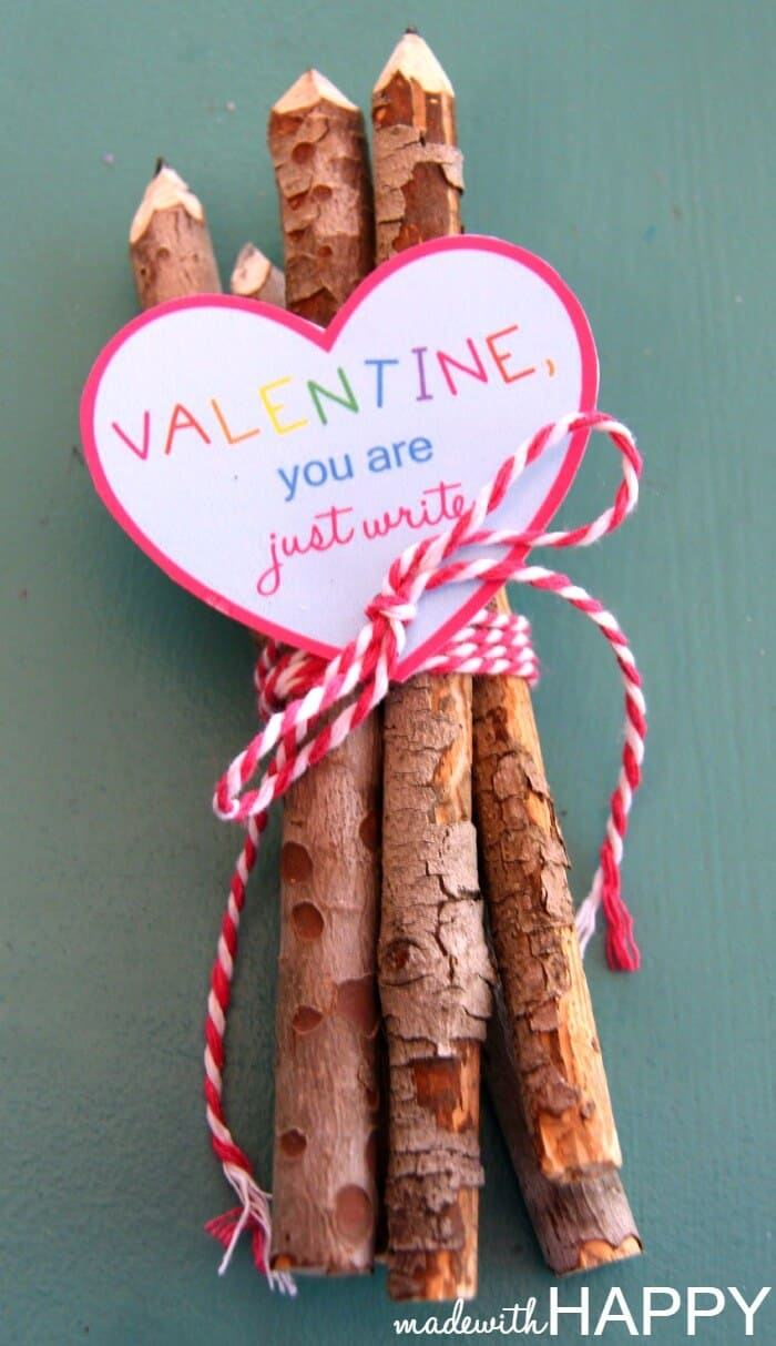 Twig Pencil Valentines