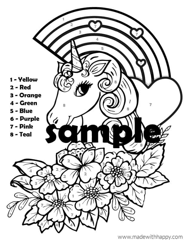 Unicorn Coloring Page Sample