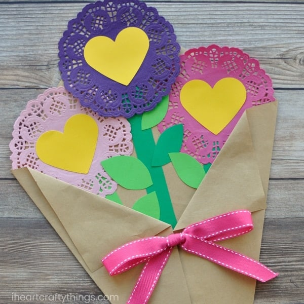valentines day paper flowers craft