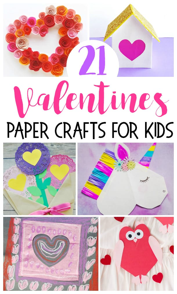 21 Easy Paper Crafts for Kids for Valentines Day