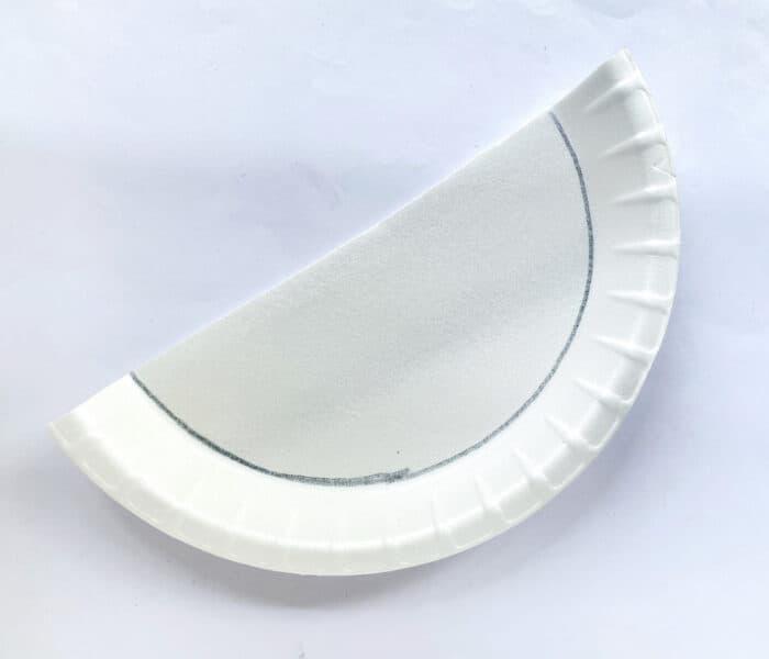 line drawn around paper plate