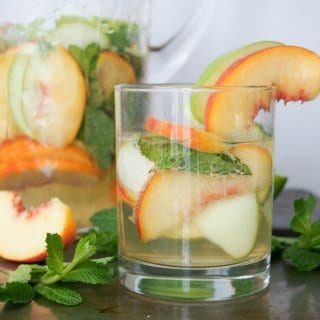 White Sangria with Whiskey, Apple & Peach