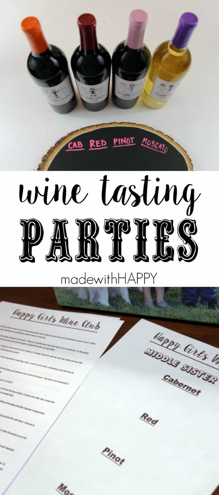 Middle Sister Wine | Happy Girls Wine CLub | Fun Wine Club descriptors and girls night fun. #MiddleSister #DropsofWisdom AD