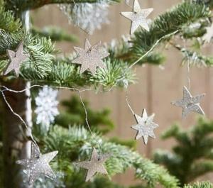 Wire Star Tree Garland