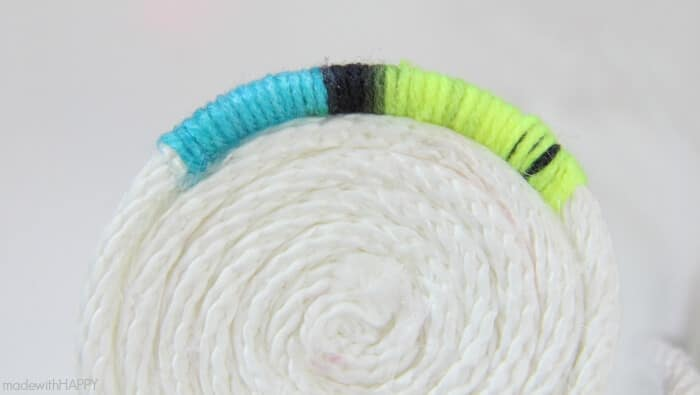 How to make a no-sew rope bowl | Rope Crafting | www.madewithHAPPY.com