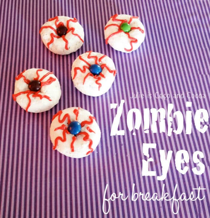 Halloween Breakfast | Zombie Eyes Donuts | Four Fall Doughnuts | Breakfast Donuts perfect for Fall | The Handmade Hangout